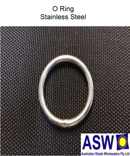 O ring round stainless steel the shade centre