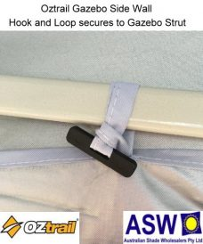Oztrail Gazebo Side Wall Hook and Loop to Secure to Strut Arm