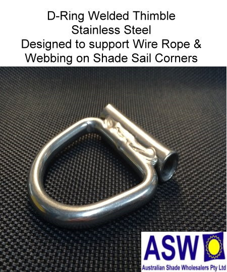 D ring with welded tube mm stainless steel the
