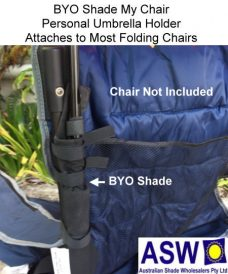 BYO Shade My Chair Secured to Chair
