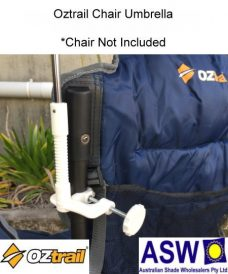 Oztrail Chair Umbrella Secured to Chair