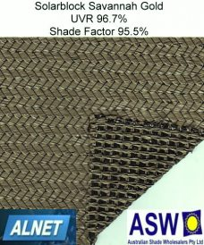 HVG Alnet Solarblock Shade Cloth Savannah Gold