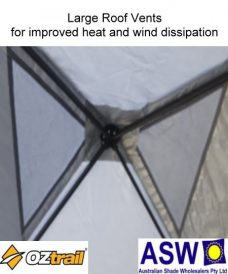 Oztrail Compact Gazebo Large Roof Vent for Heat and Wind