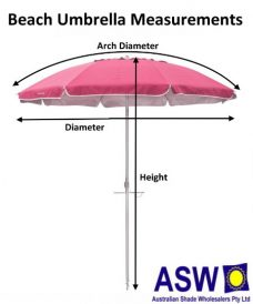 Beach Umbrella Measurements