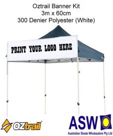 Oztrail Gazebo Banner Kit Ready to Screenprint