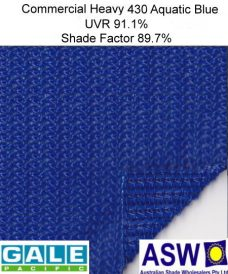 Gale Pacific Commercial Heavy 430 Architectural Shadecloth Aquatic Blue