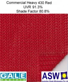 Gale Pacific Commercial Heavy 430 Architectural Shadecloth Red