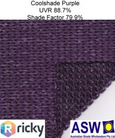 Ricky Richards Coolshade Architectural Shadecloth Purple