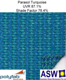 Polyfab Parasol Architectural Shadecloth Turquoise