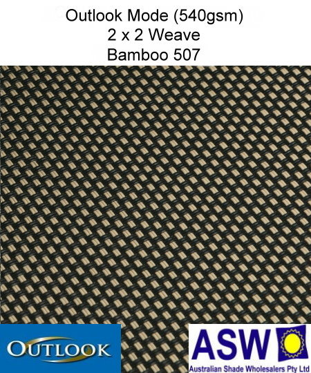 Outlook Mode Awning Mesh Bamboo 507