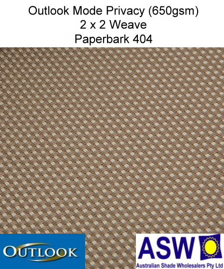 Outlook Mode Privacy Awning Mesh Paperbark 404